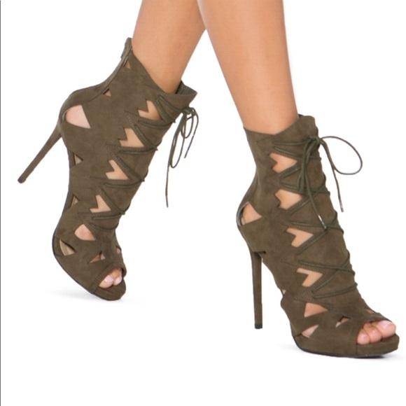 8bb5044fc7444 Shoe Dazzle Shoes | Cutout Stletto Bootie | Poshmark